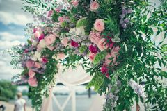Wedding arc of flowers Stock Images