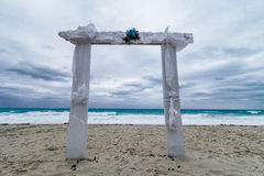 Wedding Arch and Bad Weather royalty free stock photography