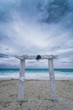 Wedding Arch and Bad Weather Royalty Free Stock Photos