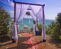 Wedding arch at the beach Royalty Free Stock Images