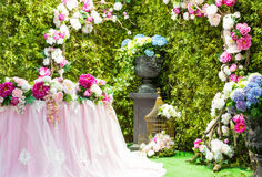 Wedding arch. Beautiful wedding arch with flowers Stock Photography