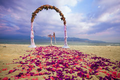Wedding arch for ceremony Stock Photography