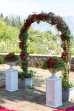 Wedding arch for the ceremony of flowers Royalty Free Stock Images