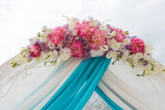 Wedding arch for the ceremony of flowers Stock Photography