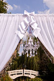 Wedding arch with a chandelier Royalty Free Stock Photos