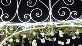Wedding arch decorated with flowers.  stock footage