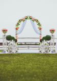Wedding arch decorated with flowers Royalty Free Stock Photography