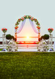 Wedding arch decorated with flowers Royalty Free Stock Images