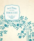 Wedding arch. Floral arch with template text for your invitation card design. Vector illustration Royalty Free Stock Images