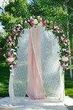 Wedding Arch with flowers Stock Photo