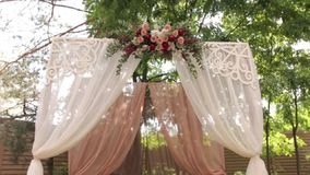 Wedding Arch With Flowers stock video
