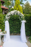 Wedding arch in green style Stock Photos