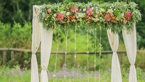 Wedding Arch At Nature stock video