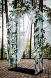 Wedding arch outdoors Stock Photography