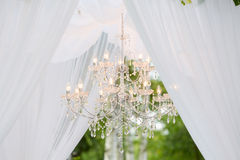 Wedding arch outdoors Royalty Free Stock Image