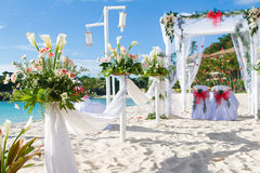 Wedding arch and set up Stock Images