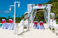Wedding arch and set up Royalty Free Stock Photo