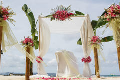 Wedding arch and set up Stock Photos
