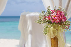 Wedding arch and set up Stock Image