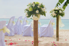 Wedding arch and set up Royalty Free Stock Photos