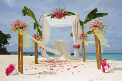 Wedding arch and set up Royalty Free Stock Photography