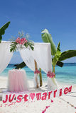 Wedding arch - tent - decorated with flowers Stock Photography
