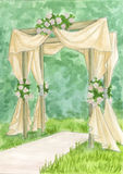 Wedding arch. Watercolor sketch Royalty Free Stock Photos