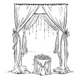Wedding arch. Wedding altar. Decoration. Royalty Free Stock Photo