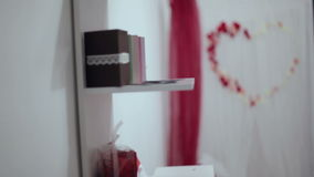 Wedding arch. wedding decorations. stock video footage