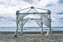 Wedding archway on a beach Stock Photo