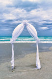 Wedding archway on a beach Royalty Free Stock Photos