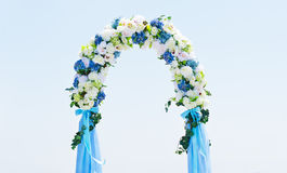 Wedding Archway. Wedding ceremony and Wedding decorations Stock Photos