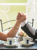 Wedding Arm Wrestling Royalty Free Stock Image