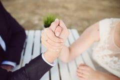 Wedding Armwrestling Stock Photo
