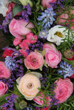 Wedding arrangement in blue and pink Stock Photo