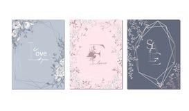 Wedding arrangement. Floral bouquet design. Botanical frame. stock illustration