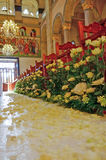 Wedding arrangement inside of orthodox church Stock Photography