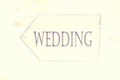 Wedding arrow sign Stock Images