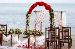 Wedding auf dem Strand Stockfoto