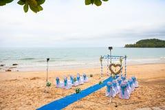 Wedding auf dem Strand Stockbild