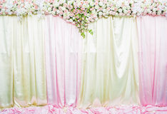 Wedding backdrop. With Beautiful flower Royalty Free Stock Images