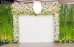 Wedding backdrop. Flower background decorate Stock Photos