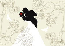 Wedding background. Universal template for greeting card, web page, background Royalty Free Stock Photography