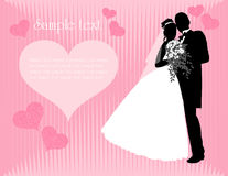Wedding background. Bride and groom. Vector illustration Stock Photo