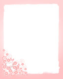 Wedding background. With pink flowers Royalty Free Stock Images