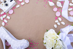 Wedding Background with decorated borders Royalty Free Stock Photos