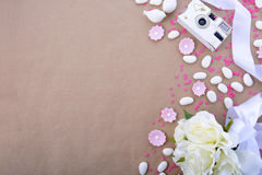 Wedding Background with decorated borders Royalty Free Stock Photo