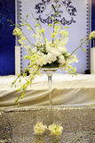 Wedding background decoration. With white beautiful bouquets Royalty Free Stock Photo