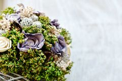 Wedding background decoration with beautiful bouquet stock photography