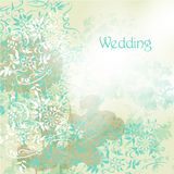 Wedding background with floral swirls in grunge vintage style Royalty Free Stock Photo